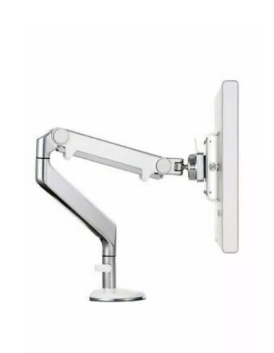 Humanscale M2 Monitor Arm, Clamp Mount, Silver White Accent Trim, Monitor Stand