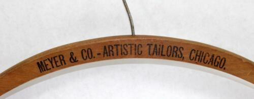 Antique Meyer & Co. - Artistic Tailors Advertising Clothes Hanger ~ Chicago