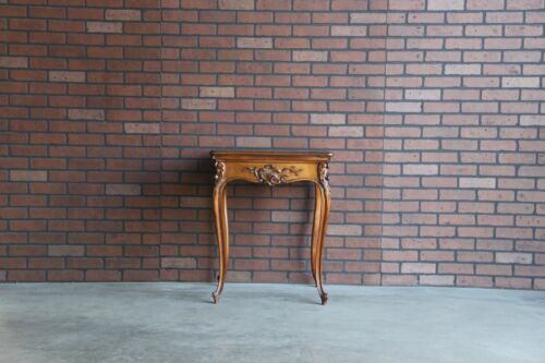 Antique French Game Table ~ Louis XV Style Carved Handkerchief Table