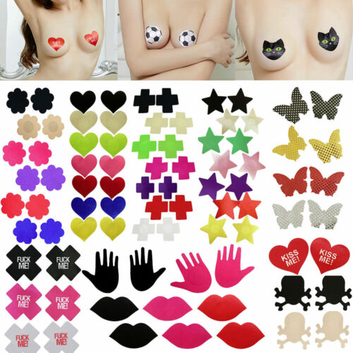 Breast Nipple Cover Self Adhesive Satin Bra Tape Pads Pasties Enhancer Stickers