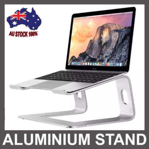 """Portable Aluminium Laptop Stand Tray Holder Cooling Riser For 11""""-15.4"""" MacBook"""