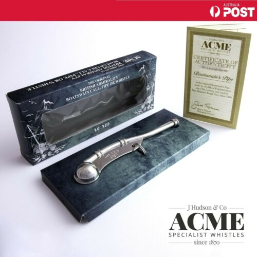 ACME 12 Boatswain Pipe Whistle Marine Boating Sailor Mariner Seaman NAVY GEAR