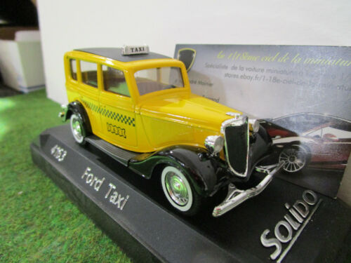 FORD TAXI jaune échelle 1/43 fabrica SOLIDO 4163 voiture miniature de collection
