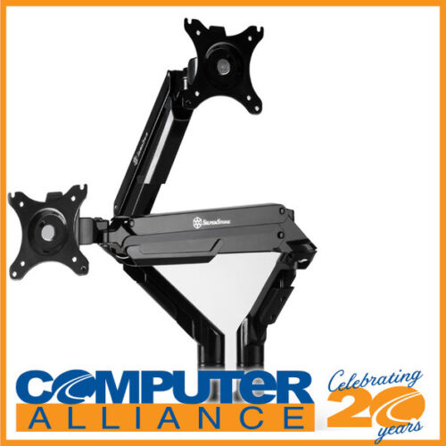 SilverStone SST-ARM21B Gas Spring Swing Dual Monitor Mount