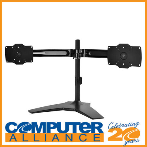 SilverStone ARM23BS-L Horizontal dual LCD monitor desk stand, support up to 32""