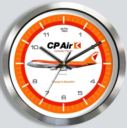 CANADIAN PACIFIC AIRLINES BOEING 747  WALL CLOCK METAL CPAIR CP AIR