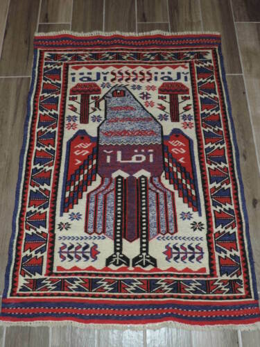 3x4ft. Handmade Eagle Sumak Wool Rug