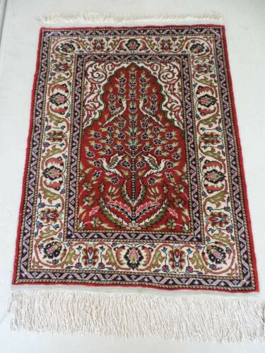"20"" x 27"" Handmade Small Silk Prayer Rug"