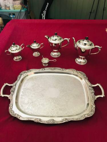 Mid-Century 1950s Paramount Silver Plated Tea & Coffee Set - 4 pieces