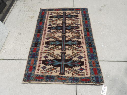 3x5ft. Handknotted Caucasian Wool Rug