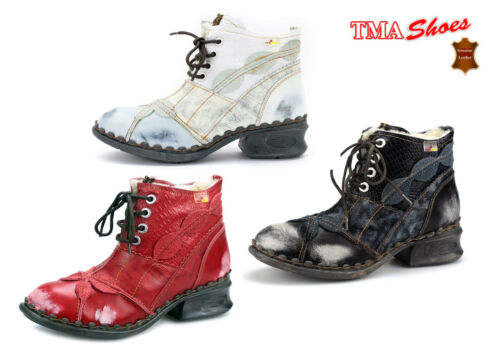 TMA 5188 - Women's Winter Ankle Boots Real Leather Removable Footbed wit Fur