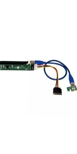 (QTY OF 1) PCIE to 16X Adapter Graphics Card Extension Cable For PCI-E Slot.