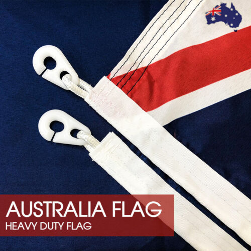 HEAVY DUTY Australian Flag Size 1800x900 With Polyester Sister Clips AU Stock