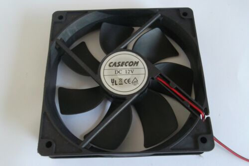 PC cooling fan Cooler casecom 120mm x 120mm DC 12V 3 x connections Pre-Owned