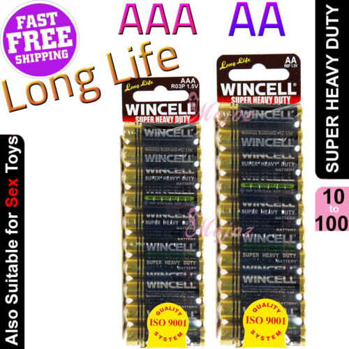 WINCELL AA or AAA Super Heavy Duty Batteries Extra Long Life Battery Multi-Pack