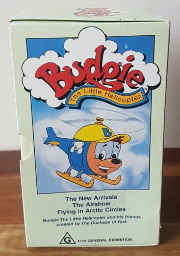 Budgie The Little Helicopter VHS Video Tapes x 3 Box Set Childrens Animated PAL