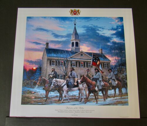 John Paul Strain - Defenders Of The Valley - Collectible Civil War Print