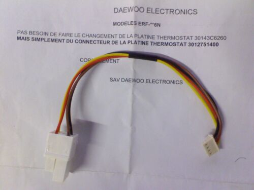 Daewoo - Connector of Platinum Thermostat for Models Erf- 6N - 3012751400