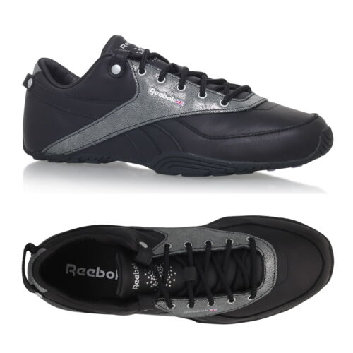 Reebok Womens Oshen Casual Trainers Leather Black SIZE 4.5 5.5 UK RRP £60