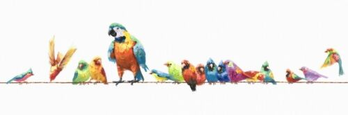 Bird Birds Painting Canvas Print Art Paint Home Wall Decor 40x120cm