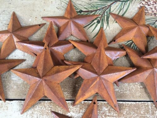 """12 ~ Rusty Barn Stars 5.5 in 5 1/2"""" Dimensional Craft Supply Country Farmhouse"""