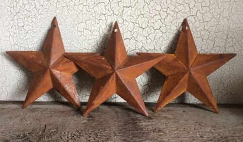 """Set/3 Rusty Barn Stars 5.5 in 5 1/2"""" Dimensional Craft Supply Country Farmhouse"""