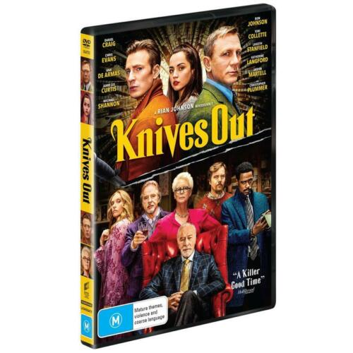 BRAND NEW Knives Out (DVD, 2020) *PREORDER R4 Movie Daniel Craig | Chris Evans