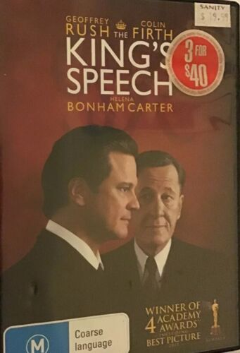 The King's Speech - DVD - Region 4, Free Priority Post ⚡️📮Faster Than The Rest!