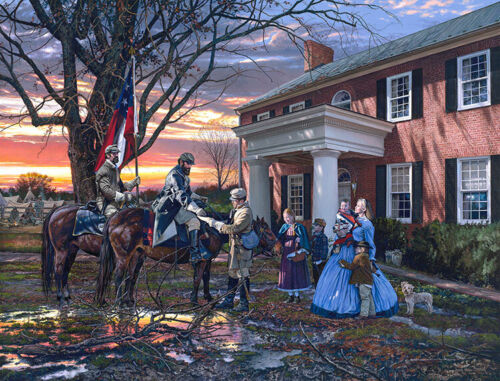"""""""Evening Orders in Strasburg"""" By John Paul Strain - Signed Classic Canvas Giclée"""