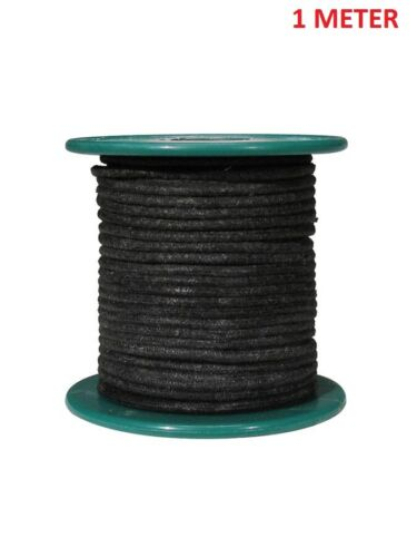1 METER BLACK - Vintage Cloth covered wire AWG18 braided copper.