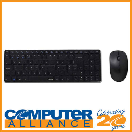 Rapoo 9300M Multi-Mode Wireless Keyboard and Mouse Black