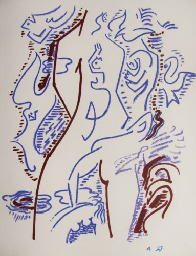 ANDRE MASSON - SURREAL # 2  -  ORIGINAL LITHOGRAPH - C.1960 - FREE SHIP IN US