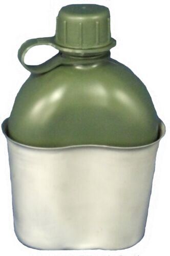 TAS Stainless Steel Kidney Canteen Cup + 1L Military Canteen Combo Modern, Current - 36066