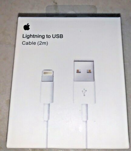 Genuine Original Apple iPhone XS XR 8 7 6S 5 LIGHTNING USB Cable Charger 2M(6ft)