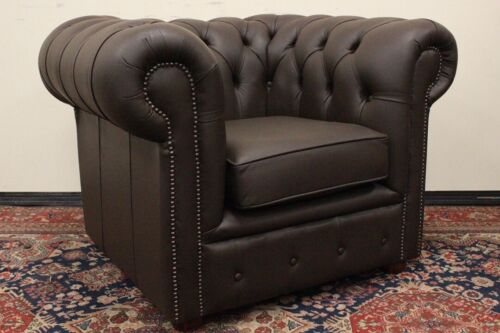 Poltrona Chesterfield / Chester / pelle marrone / brown leather / inglese / UK