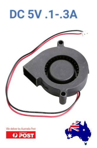 1 x  Black Brushless DC Cooling Blower Fan 5015S 5V 0.1-0.3A 50x15mm