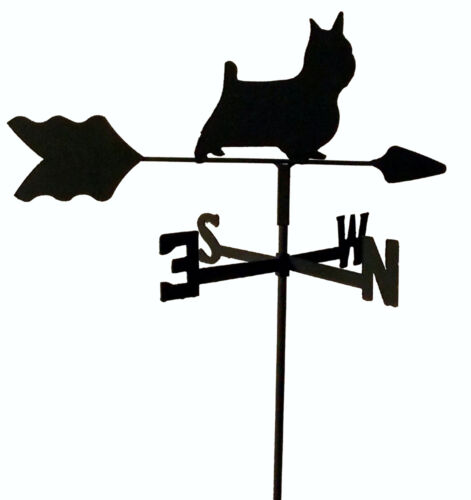 Cairn Terrier Garden Style Black Wrought Iron Look MADE N USA