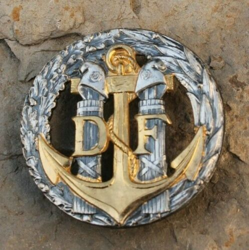Bouton Douane Militaire Douaniers 15mm Ancien Militaria French 1930