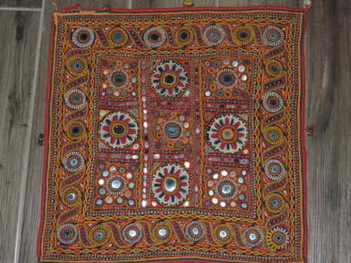 """17"""" x 18"""" Embroidered Square Handmade Wall Hanging"""