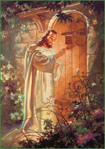 """Christian print picture Jesus Christ knocking on door 8"""" x10"""" ready to be framed"""