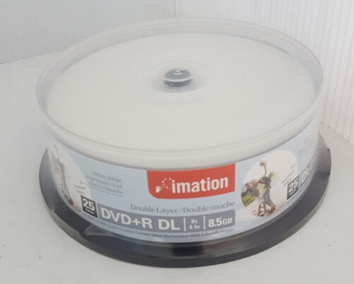 Imation DVD+R DL Double / Dual Layer White Printable 25pk Spindle Blank Discs