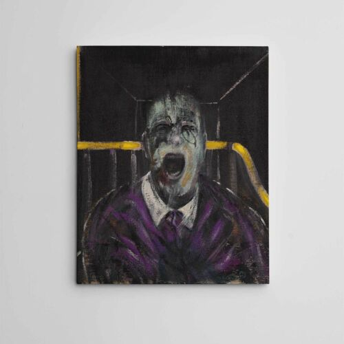 """16X20"""" Gallery Art Canvas: Francis Bacon 'Screaming' Surreal Figurative Painting"""