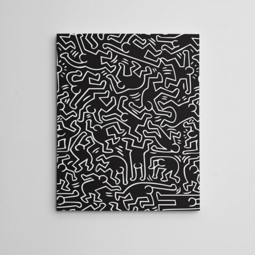 """16X20"""" Gallery Art Canvas:  Contemporary Keith Haring Framed Hip Hop """"Dancers"""""""