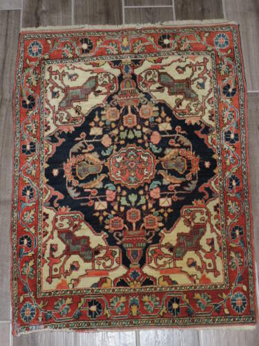2x3ft. Antique Sarouk Wool Rug