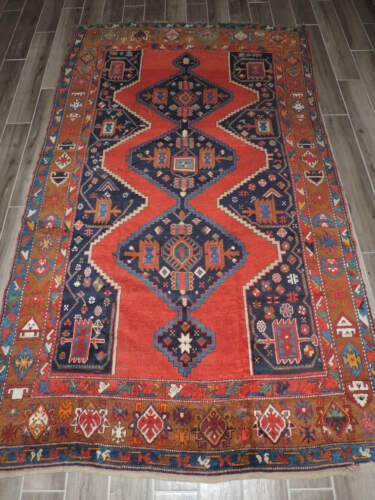 5x9ft. Antique Handmade Caucasian Karabaugh Wool Rug