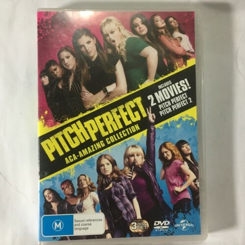 PITCH PERFECT ACA-AMAZING COLLECTION - DVD 3 DISCS - R4 - VGC - FREE POST