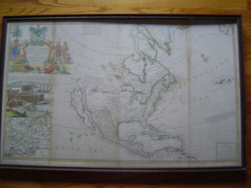 Herman Moll Map North America/Cape Cod--early 1700's period... antique original