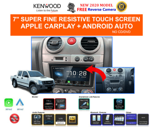 Kenwood DMX8020S for Isuzu Dmax 2009 to 2012 - Stereo Upgrade