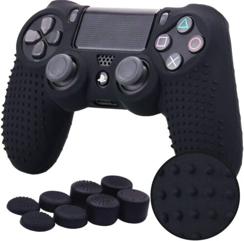 Fosmon PS4 Controller Skin with 8 Thumb Grips, Anti-Slip Silicone Grip Cover PS4