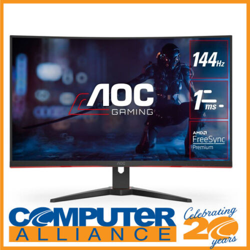 "31.5"" AOC CQ32G2E QHD 144hz FreeSync Curved Gaming Monitor"